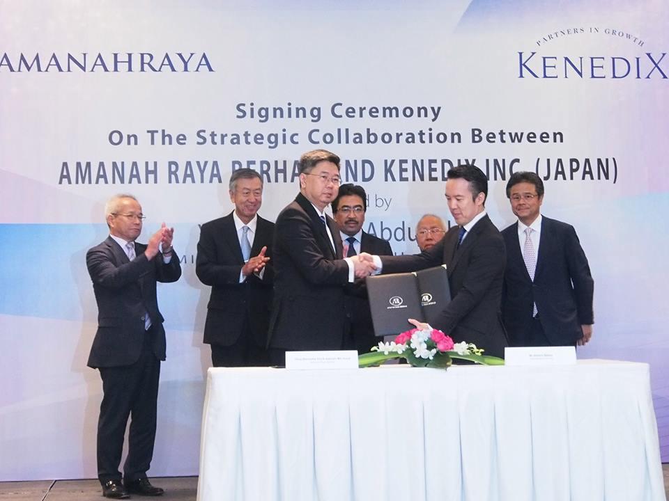 Signing Ceremony on The Strategic Collaboration between AmanahRaya Berhad and Kenedix Inc (JAPAN)