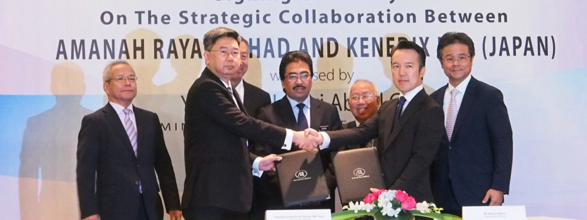 Amanahraya today announced a strategic collaboration with Japan's largest independent real estate asset management company Kenedix Inc.