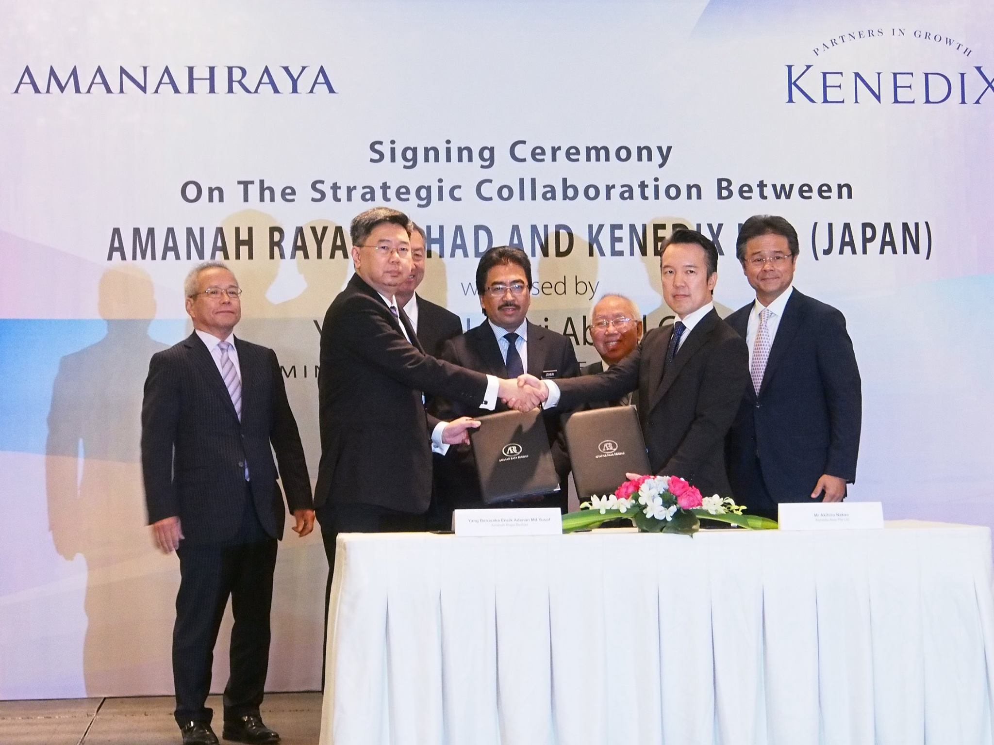 Signing Ceremony on The Strategic Collaboration between AmanahRaya Berhad and Kenedix Inc (JAPAN)