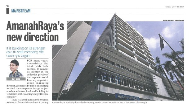 For many years, Amanahraya tried with little success to cement its identity in the collective psyche of the corporate world.